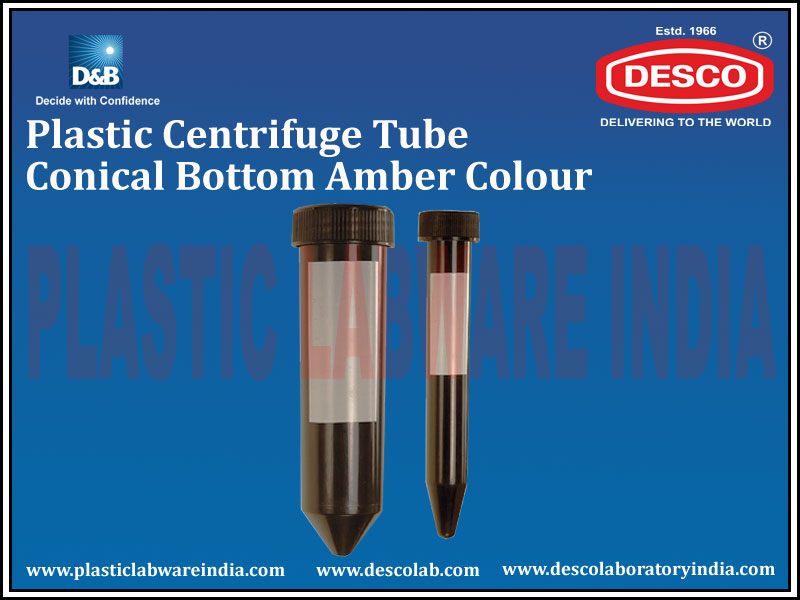 CENTRIFUGE TUBE CONICAL BOTTOM AMBER