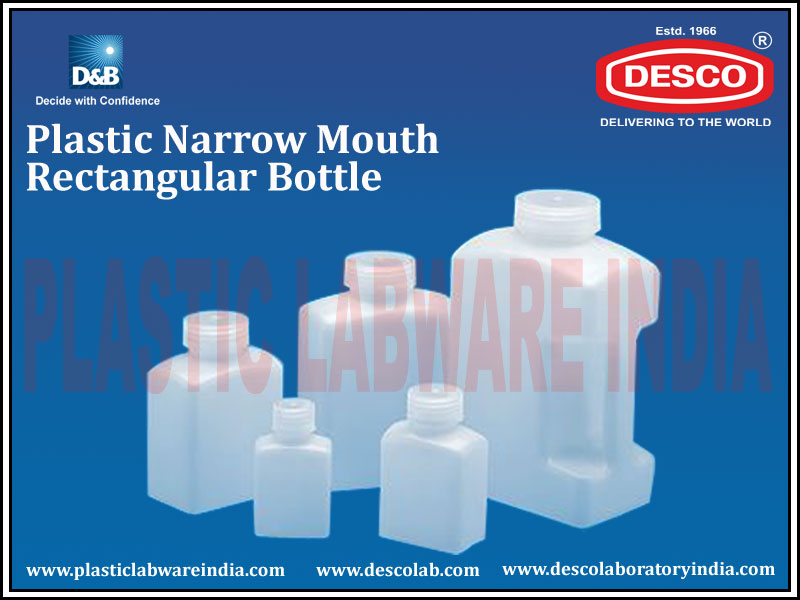 NARROW MOUTH RECTANGULAR BOTTLE
