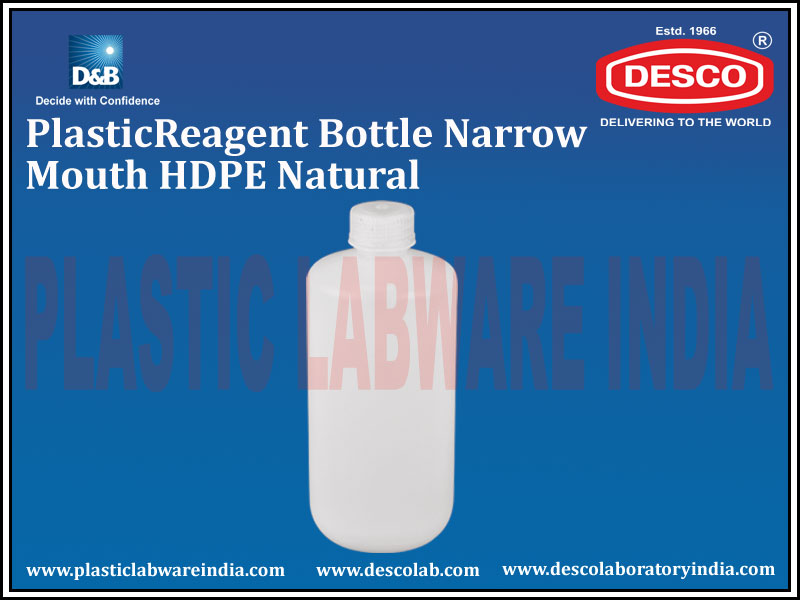 REAGENT BOTTLE NARROW MOUTH HDPE NATURAL