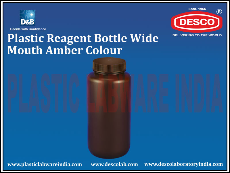 REAGENT BOTTLE WIDE MOUTH AMBER