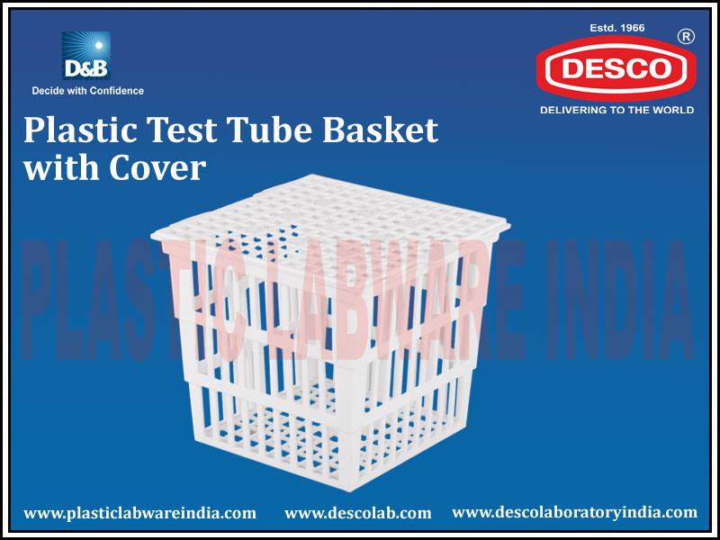 TEST TUBE BASKET WITH COVER